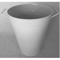 BUCKET LARGE WIDE WHITE 340X295X190