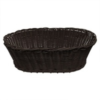 POLY BASKET OVAL CHOCOLATE 580X390X200MM