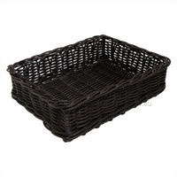 POLY BASKET RECT CHOCOLATE 400X300X100MM