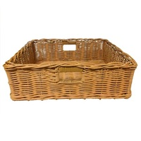 POLY BASKET NAT W/HANDLES 500X400X160MM