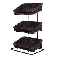 COUNTER STAND 3XCHOC POLYWICKER BASKET