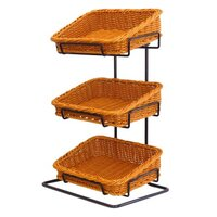 COUNTER STAND 3XNAT POLYWICKER BASKET