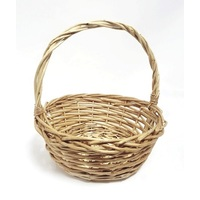 WILLOW BASKET ROUND W/ HANDLE 28X28X10CM