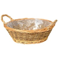 WILLOW AND SEAGRASS BASKET 29X21X11CM