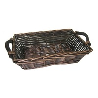 WILLOW TRAY STAINED 27X40X10CM