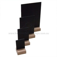 CHALK BOARD A4 FREE STANDING + OAK BLOCK