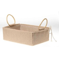 JUTE TRAY WITH HANDLE 30X38X9CM LARGE