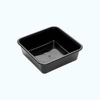 BONSON 350ML BLACK CONTAINER SQUARE