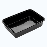 BONSON *BLACK* 500ML CONTAINER RECTANGLE