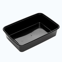 BONSON *BLACK* 650ML CONTAINER RECTANGLE