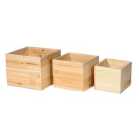 BOX WOOD SET3 SQUARE NATURAL