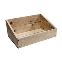 PINE CRATE 450X320X110-210 SLANTED TOP
