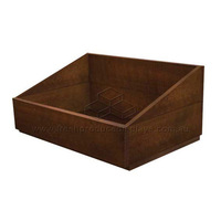 CRATE DARK STAIN 450X320X110-210 SLANTED