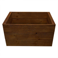 PINE CRATE DARK STAIN 560X380X300MM