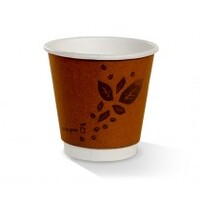 COFFEE CUP 08OZ SQUAT COMPOSTABLE DOUBLE