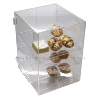 POLYCARB BAKERY DISPLAY CABINET 3 SHELF