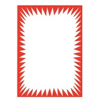 DISPLAY BOARD A4 WHITE W/ RED BORDER