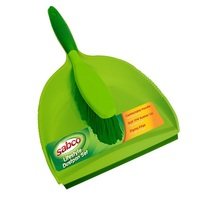 DUSTPAN PLASTIC SET GREEN PREMIUM