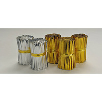 TWIST TIES 75MM GOLD POLY
