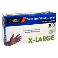 GLOVE VINYL BLUE EX-LARGE POWDERED