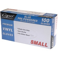 GLOVE VINYL BLUE SMALL POWDERED