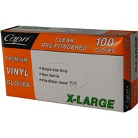 GLOVE VINYL CLEAR XLARGE POWDERED