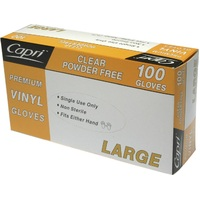 GLOVE VINYL POWDER FREE LARGE
