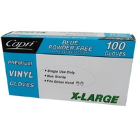 GLOVE VINYL POWDER FREE EX-LARGE BLUE