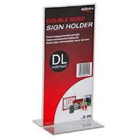 SIGN HOLDER DBLE-SIDED DL 110X220X80MM