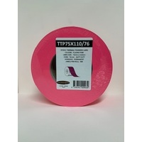 LABEL BLANK 75X100MM PINK - 100M ROLL