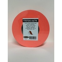 LABEL BLANK 75X100MM RED - 100M ROLL