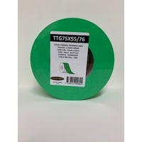 LABEL BLANK 75X55MM GREEN - 100M ROLL