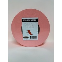 LABEL BLANK 75X55MM RED - 100M ROLL