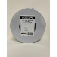 LABEL BLANK 75X55MM WHITE - 100M ROLL