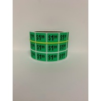 LABEL 20X25 GREEN $1.99  BLOCK PRINT