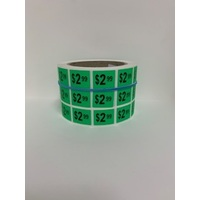 LABEL 20X25 GREEN $2.99 BLOCK PRINT