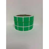 LABEL 20X25 GREEN BLANK 3000