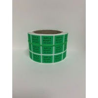 LABEL 20X25 GREEN RIPE READY TO EAT