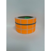 LABEL 20X25 ORANGE BLANK