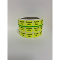 LABEL 20X25 YELLOW REDUCED TO CLEAR