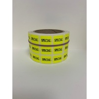 LABEL 20X25 YELLOW SPECIAL