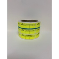 LABEL 20X65 YELLOW SELECTED PRODUCE WEI