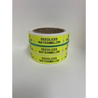 LABEL 20X65 YELLOW SEEDLESS WATERMELON