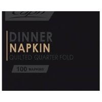 NAPKIN DINNER CAPRI BLACK REDIFOLD 2PLY
