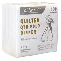 NAPKIN DINNER CAPRI WHITE QUILTED 2PLY