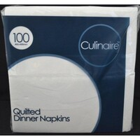 NAPKIN DINNER CULINAIRE WHITE REDIFOLD