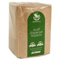 DISPNENSER NAPKIN 1PLY RECYCLED BROWN