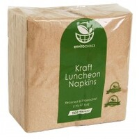 NAPKIN LUNCH 1PLY RECYCLED BROWN