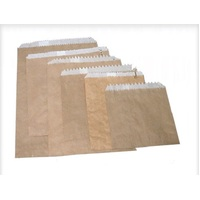 PAPER BAG BROWN 3 LONG GREASEPROOF LINED