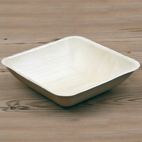 PALM LEAF BOWL/PLATE SQUARE 200MM